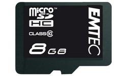 Emtec MicroSD Class 10 8GB + Adapter