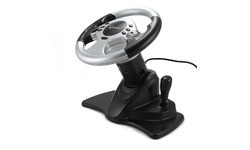 Gembird ShockForce Steering Wheel Black/Silver