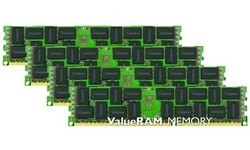 Kingston ValueRam 64GB DDR3-1333 CL9 ECC Registered quad kit