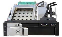 "Delock 5.25"" Mobile Rack for 1x 2.5"" + 1x 3.5"" SATA HDD + 2x USB 3.0 Ports"