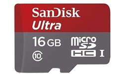Sandisk Ultra MicroSDHC UHS-I 16GB Grey/Red Retail + Adapter