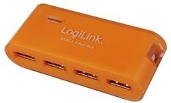 LogiLink 4-port USB 3.0 Hub + Adapter Orange