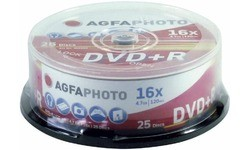 AgfaPhoto DVD+R 16x 25pk Spindle