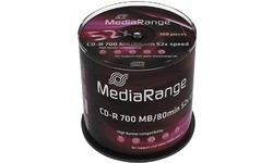 MediaRange CD-R 700MB 52x 100pk Spindle