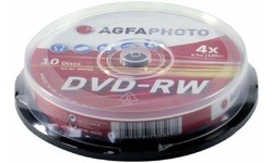 AgfaPhoto DVD-RW 4x 10pk Spindle