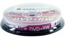 AgfaPhoto DVD+RW 4x 10pk Spindle