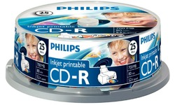 Philips CD-R 700MB 52x 25pk Spindle