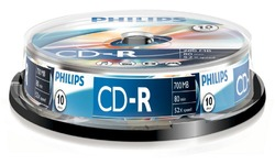 Philips CD-R 700MB 52x 10pk Spindle
