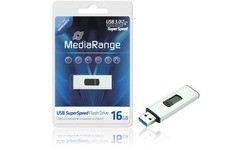 MediaRange SuperSpeed Flash Drive 16GB Black/Silver