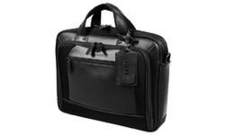 Port Designs Dubia Leather 14.1 Leather/Nylon Case Black