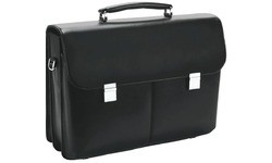 Dicota Executive Style Leather Case For Laptops up to 17 Black