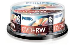 Philips DVD+RW 4x 25pk Spindle
