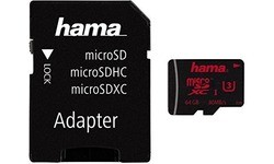 Hama MicroSDXC UHS-I U3 64GB + Adapter