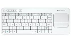 Logitech Wireless Touch K400 Plus White