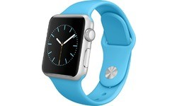 Apple Watch 38mm Silver Aluminium Case, Blue Sport Band
