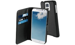 Muvit Galaxy S5 / S5 Neo Magnetic Wallet Stand Case Whiteh 3 cardslots Black