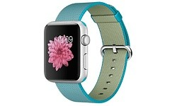 Apple Watch Sport 42mm Silver Aluminium Case Scuba Blue Woven Nylon