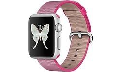 Apple Watch Sport 38mm Aluminium Case Silver Nylon Pink