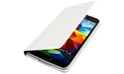 Videoseven Slim Flip Case for Samsung Galaxy S5 White