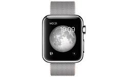 Apple Watch 42mm Silver Sport Band Black