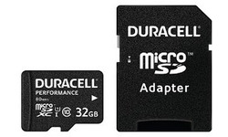 Duracell Performance MicroSDHC UHS-I 32GB kit + Adapter