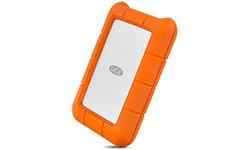 LaCie Rugged 4TB Mobile Drive Silver/Orange