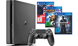 Sony PlayStation 4 Slim 1TB + Uncharted 4 + Driveclub + Ratche