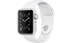 Apple Watch Series 1 42mm Silver Sport Band White