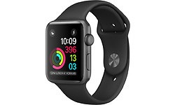 Apple Watch Series 1 42mm Space Grey Sport Band Black