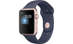 Apple Watch Series 1 42mm Pinkgold Sport Band Blue