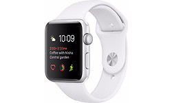 Apple Watch Series 2 38mm Silver Sport Band White