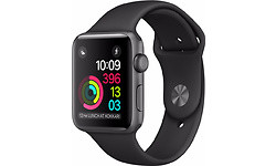Apple Watch Series 2 38mm Space Grey Sport Band Black (130-200mm)