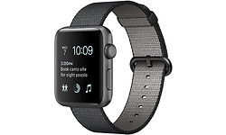 Apple Watch Series 2 42mm Space Grey Sport Band Nylon Black