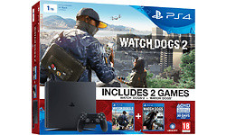 Sony PlayStation 4 Slim 1TB + Watch Dogs 2
