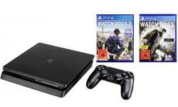 Sony PlayStation 4 Slim 1TB + Watch Dogs 1 & 2