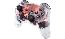 BigBen Official Wireless Controller Transparent Red LED PS3