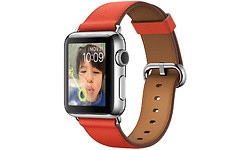 Apple Watch 38mm Stainless Steel Case, Red Classic
