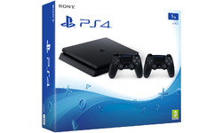 Sony PlayStation 4 1TB Slim + 2 controllers