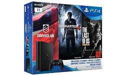 Sony PlayStation 4 Slim 1TB + Uncharted 4 + Driveclub