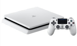 Sony PlayStation 4 Slim 500GB White + 2 DualShock 4 Controller
