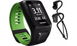 TomTom Runner 3 Cardio + Music + Headphone Black/Green L