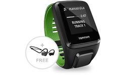 TomTom Runner 3 Music + Headphones Black/Green L