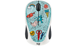 Logitech M238 Doodle Collection Bae-Bee Blue