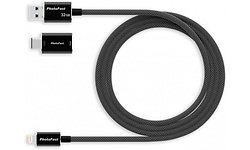 PhotoFast MemoriesCable 1M 32GB Black + Type-C Adapter