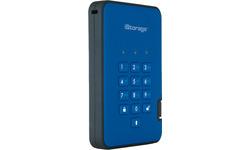 iStorage diskAshur 2 500GB Blue