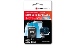 AgfaPhoto Professional High Speed MicroSDHC UHS-I U3 16GB + Adapter