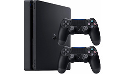 Sony PlayStation 4 Slim 1TB Black + 2 Controller