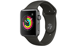 Apple Watch Series 3 42mm Aluminium Space Grey + Grey Sport Band