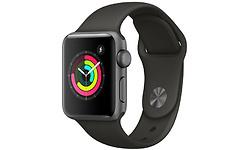 Apple Watch Series 3 38mm Aluminium Grey + Black Sport Band
