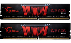 G.Skill Aegis Black/Red 8GB DDR4-2400 CL17 kit